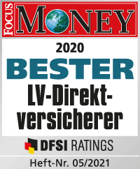 Bester LV-Direktversicherer FocusMoney 05/2021